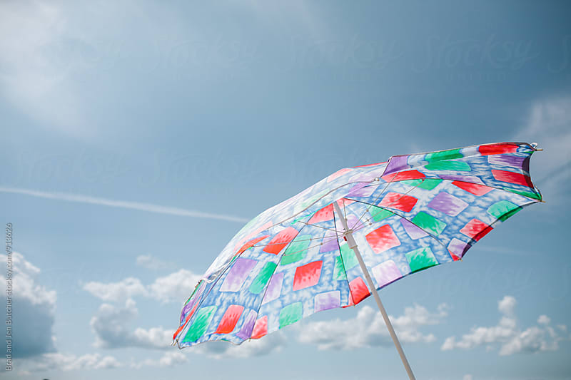 Beach Umbrella by Brad and Jen Butcher for Stocksy United