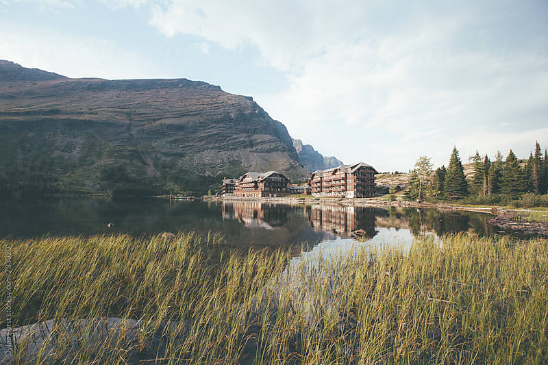 Many Glacier Hotel by Dylan Furst for Stocksy United