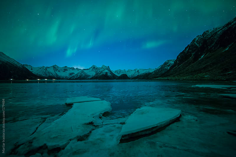 Aurora over an Ice Field by Marilar Irastorza for Stocksy United