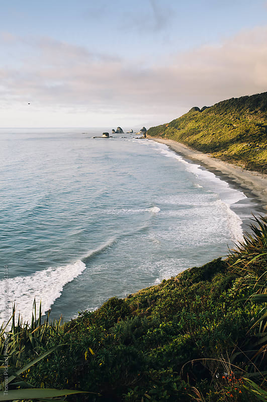 View along the West Coast of New Zealand, north of Greymouth. by Thomas Pickard for Stocksy United
