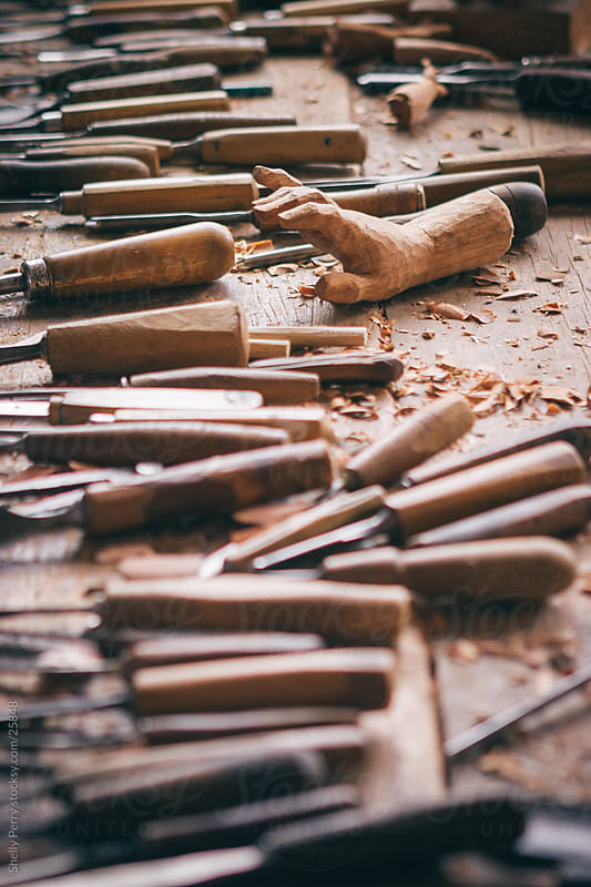 Carving Tools by Shelly Perry for Stocksy United