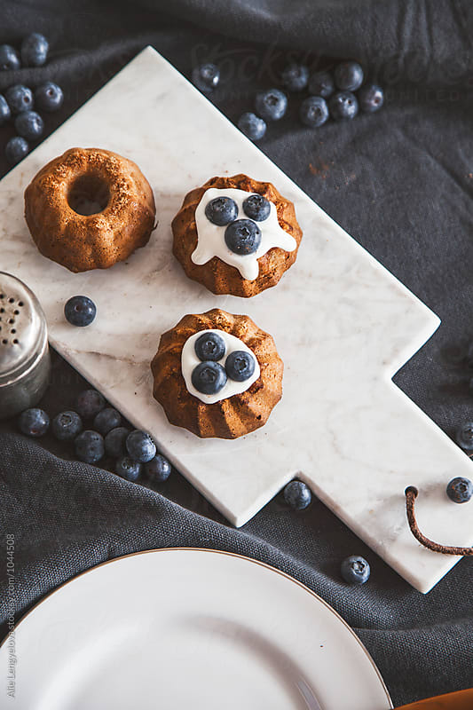 Little Healthy Bundt Cake with Blueberries by Alie Lengyelova for Stocksy United