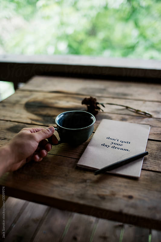 Journaling and Drinking Coffee by Jack Sorokin for Stocksy United