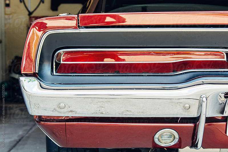 Taillight close up on a retro American sport car by Gabriel (Gabi) Bucataru for Stocksy United
