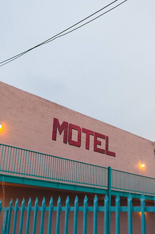 kitsch pink motel building by Image Supply Co for Stocksy United