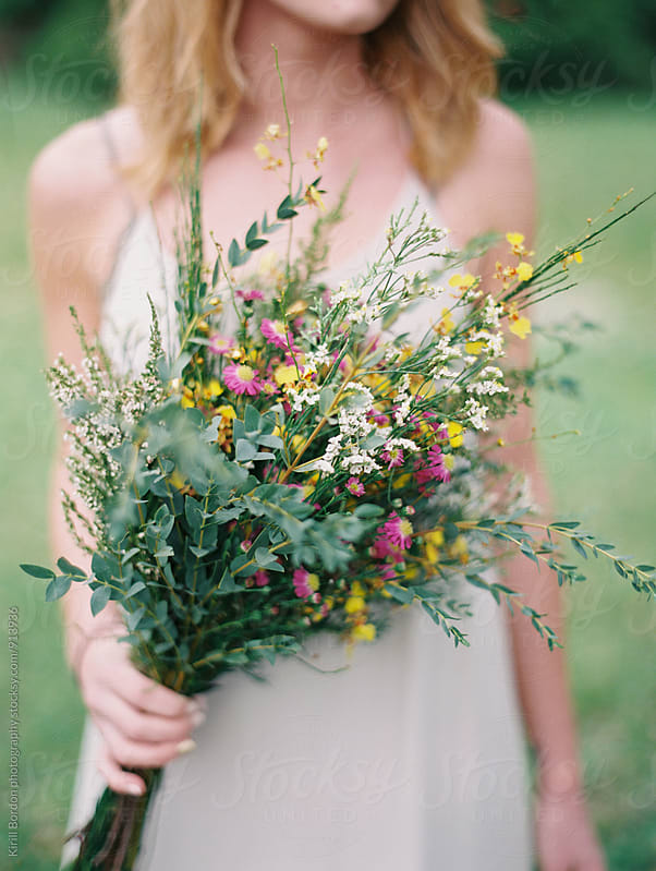 bouquet from wild flowers by Kirill Bordon photography for Stocksy United