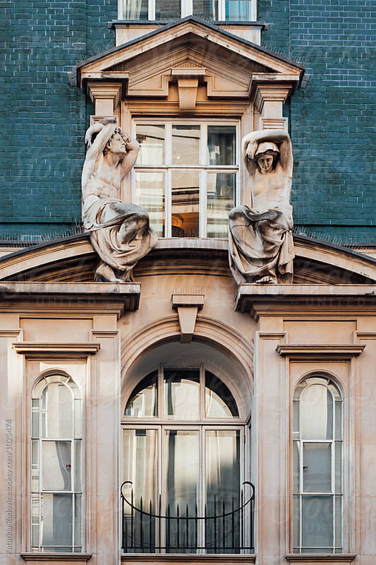 Facade in London in Classic Style Decorated With Sculptures by Katarina Radovic for Stocksy United