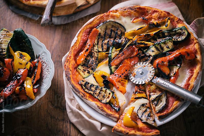 Vegetarian Pizza by Davide Illini for Stocksy United