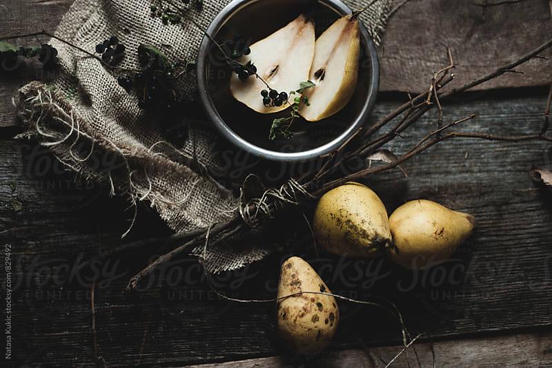 Yellow pears still life by Natasa Kukic for Stocksy United