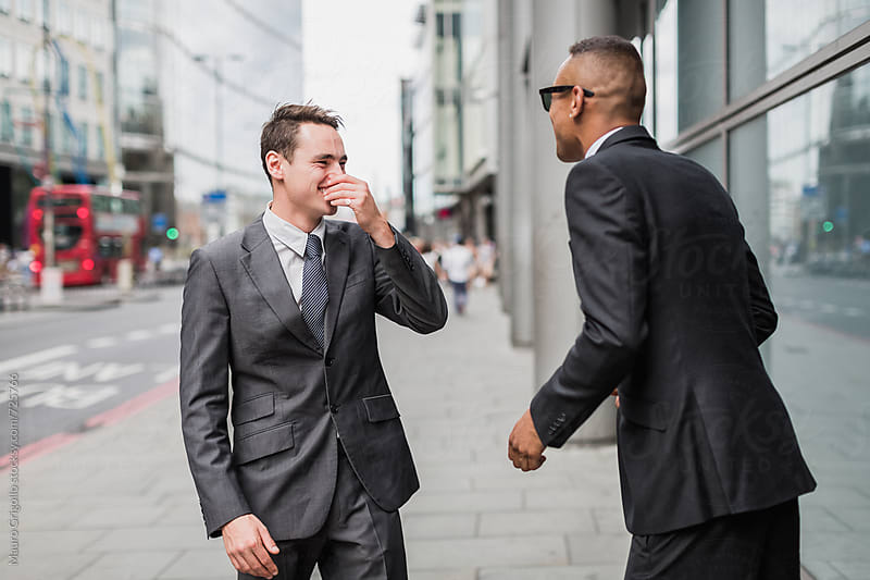 Businessmen in the City by Mauro Grigollo for Stocksy United