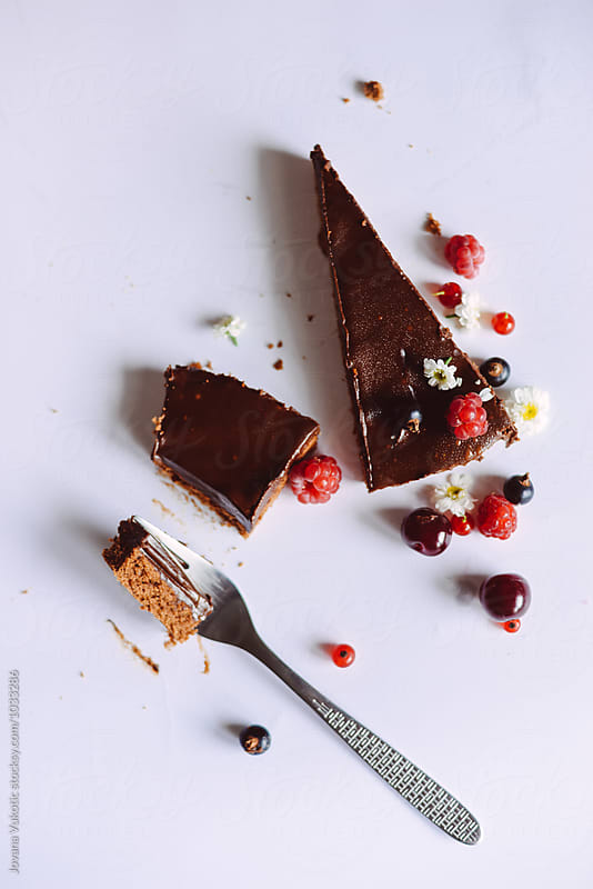 Chocolate cake by Jovana Vukotic for Stocksy United