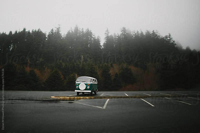 A vintage bus in the forest by Dylan M Howell Photography for Stocksy United
