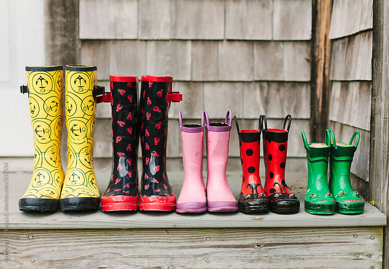 Rubber Boots Largest to smallest  by Raymond Forbes LLC for Stocksy United