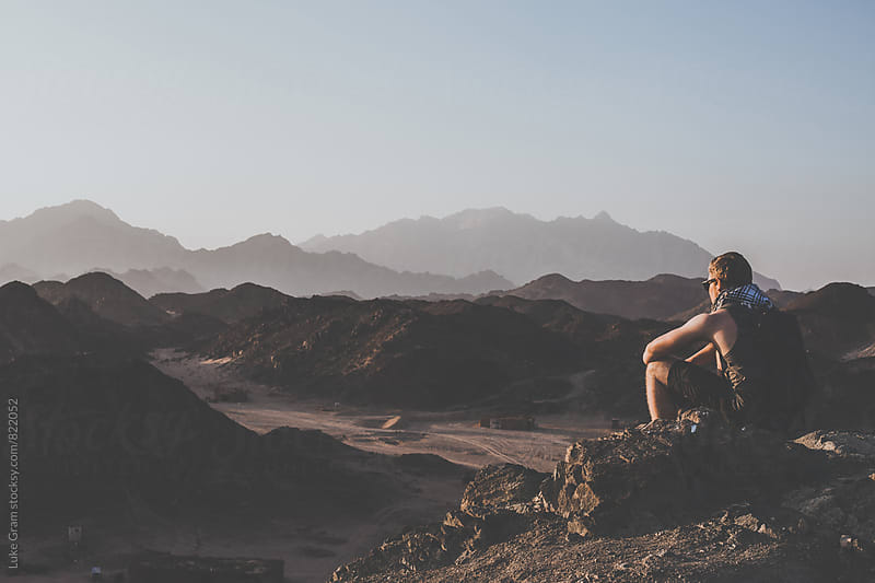 Exploring the desert by Luke Gram for Stocksy United