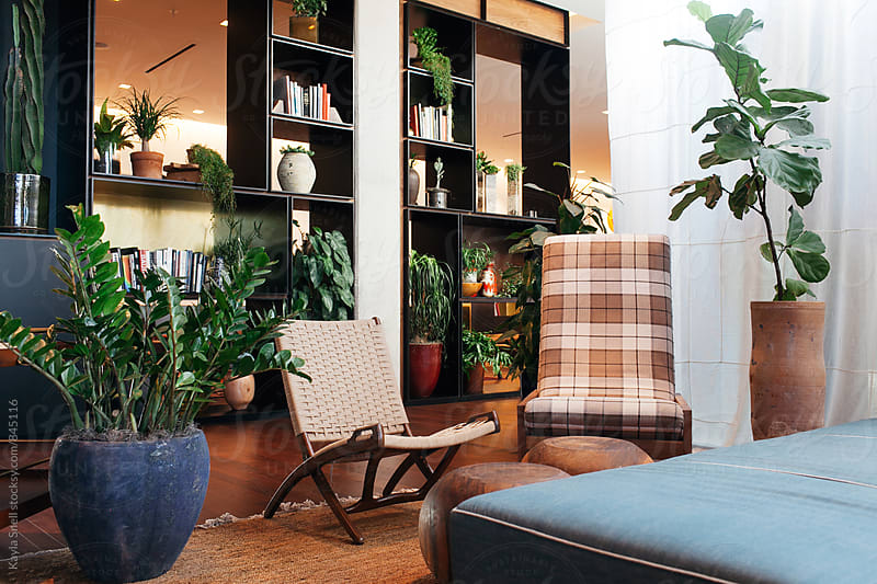 Chic Hotel Lobby by Kayla Snell for Stocksy United