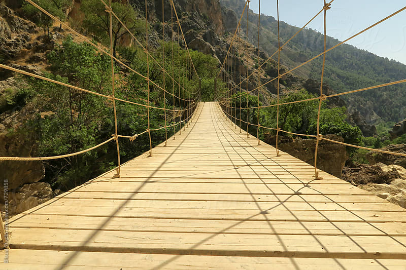 Hanging bridge by Bisual Studio for Stocksy United