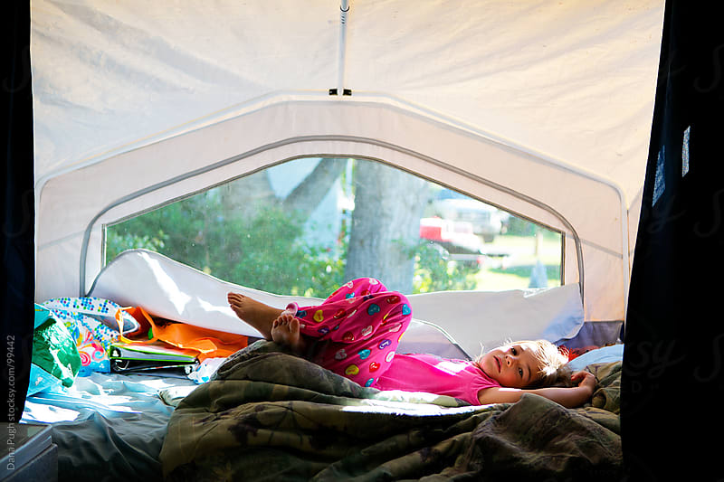Camping Girl by Dana Pugh for Stocksy United
