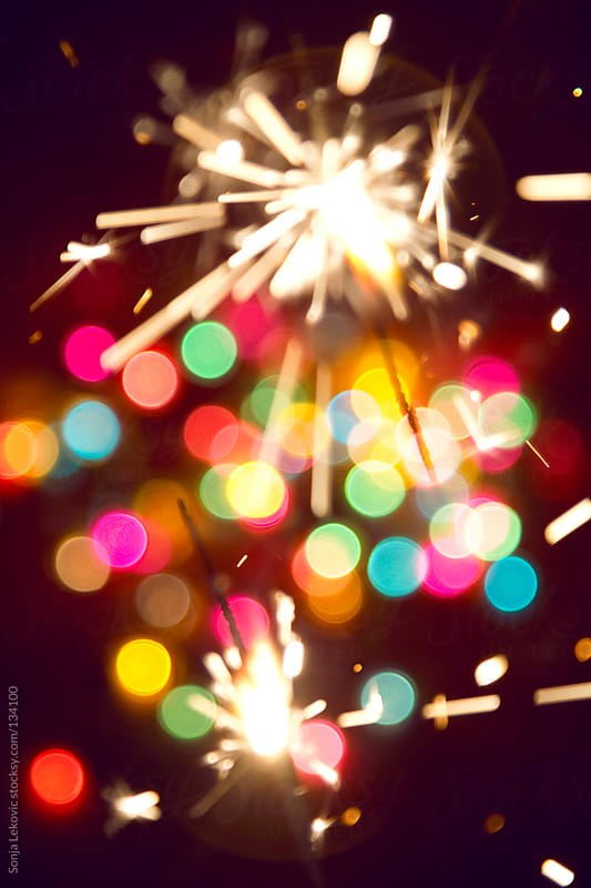 blurred celebration lights background by Sonja Lekovic for Stocksy United
