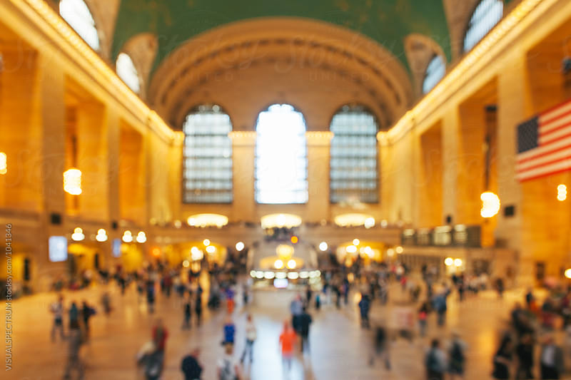 Defoucsed Grand Central Station in New York City, USA by VISUALSPECTRUM for Stocksy United