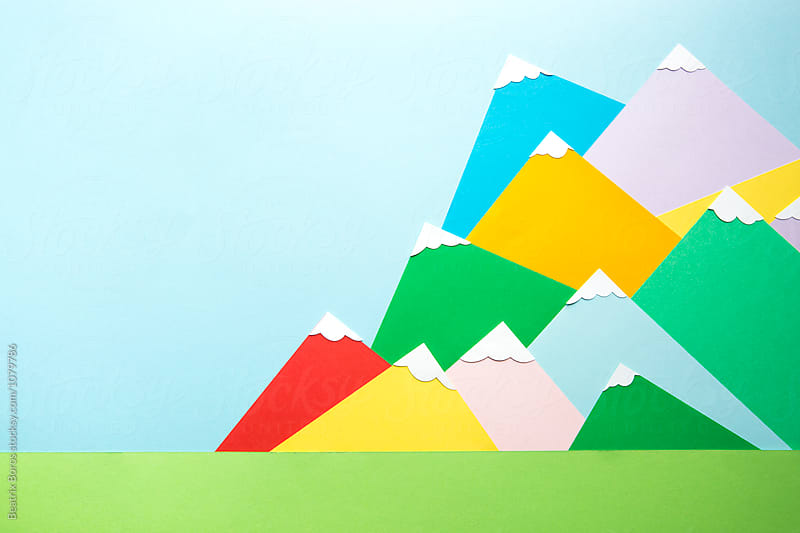 Chain of mountain hills with copy space by Beatrix Boros for Stocksy United