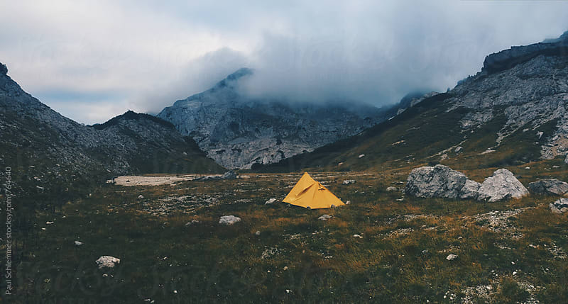 camping in alps by Paul Schlemmer for Stocksy United