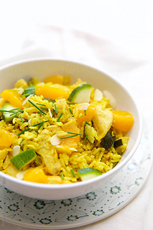 Apricot curry rice by Orsolya Bán for Stocksy United