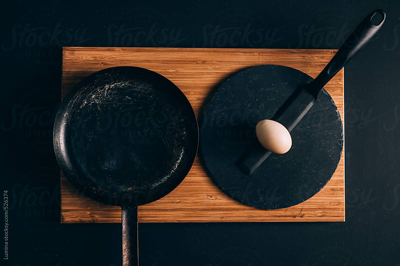 Egg and a Frying Pan by Lumina for Stocksy United