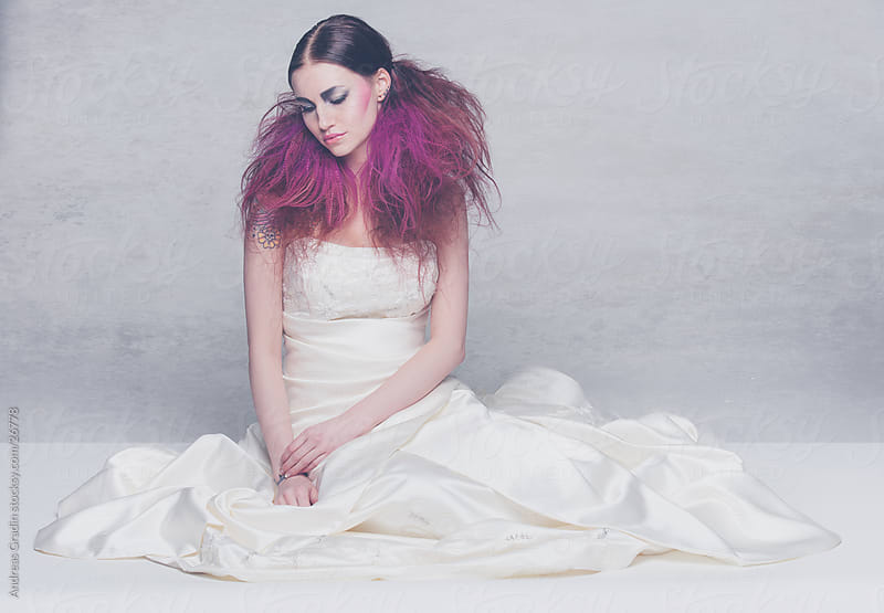 alternative emo bride by Andreas Gradin for Stocksy United