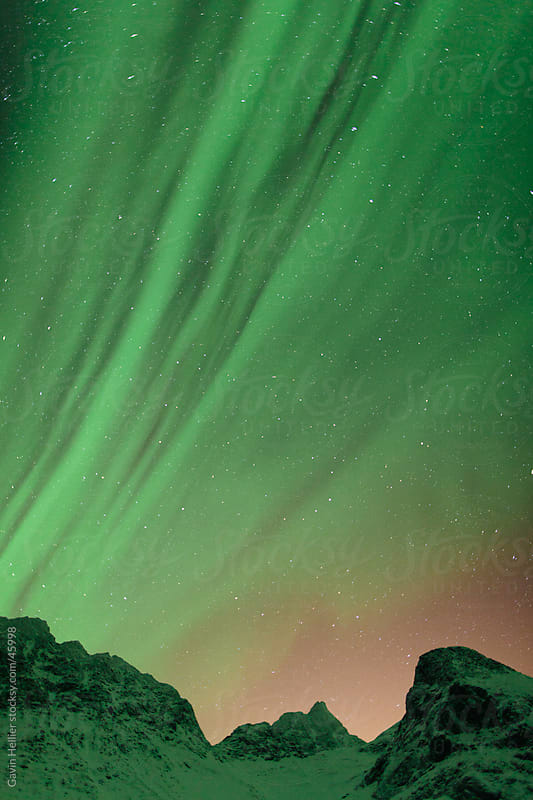 Aurora Borealis, Northern Lights, Troms region, Norway by Gavin Hellier for Stocksy United