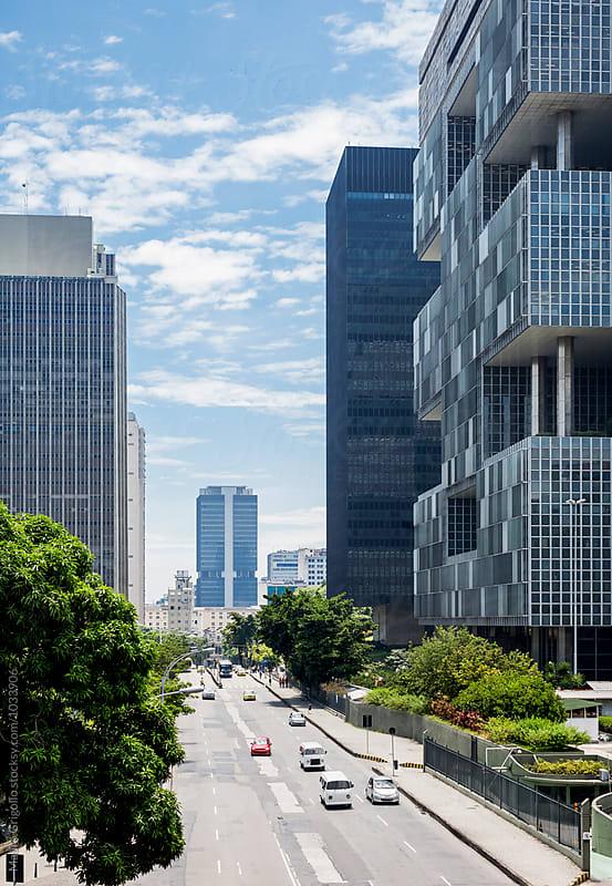 Road and buildings in Rio de Janeiro, Brazil by Mauro Grigollo for Stocksy United