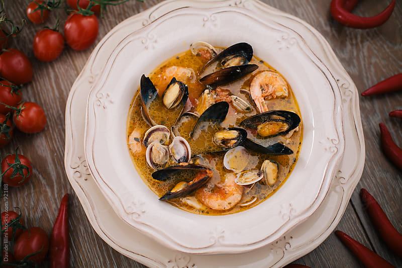 Seafood Soup by Davide Illini for Stocksy United