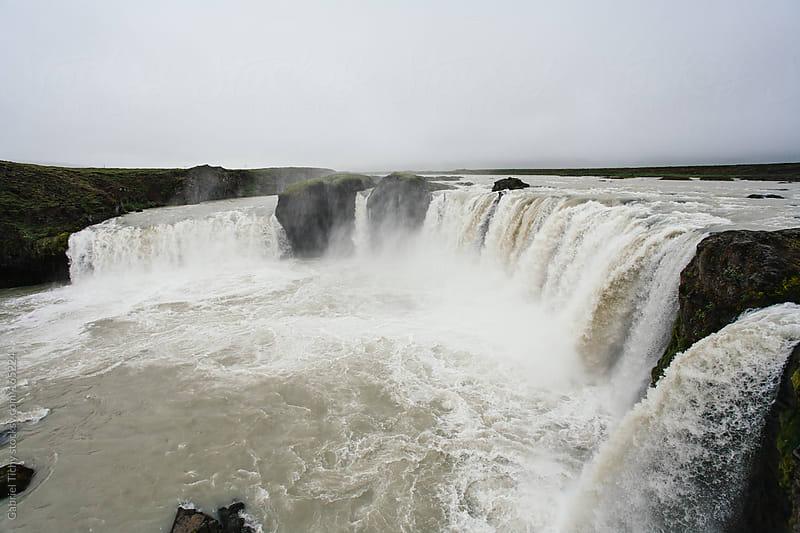 Godafoss waterfall, Iceland by Gabriel Tichy for Stocksy United