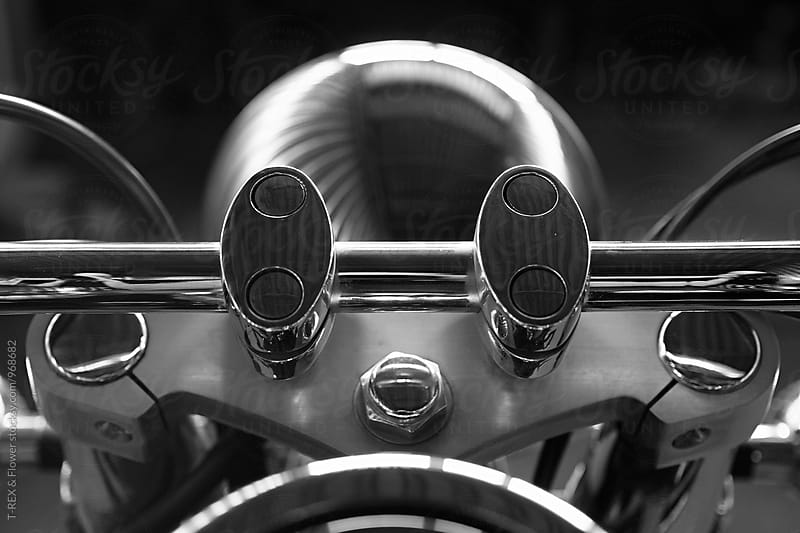 Close-up of motorcycle handle bar by Danil Nevsky for Stocksy United