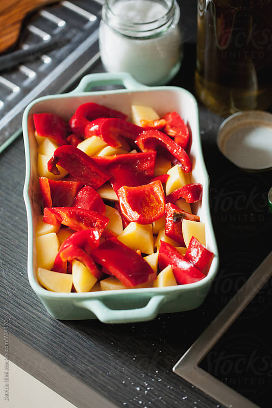 Peppers and Potatoes by Davide Illini for Stocksy United