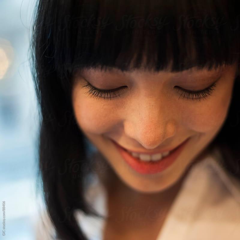 Happy asian woman portrait by GIC for Stocksy United