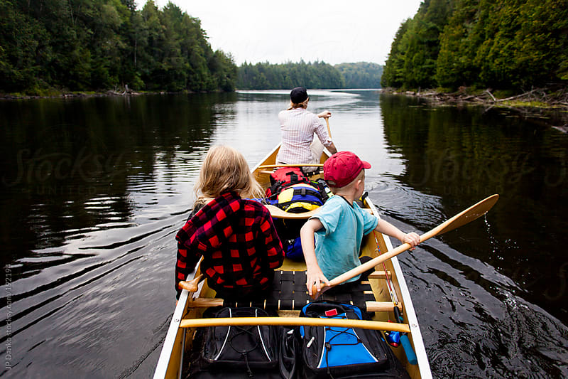 Family Canoe Trip Northern Ontario Canada by JP Danko for Stocksy United