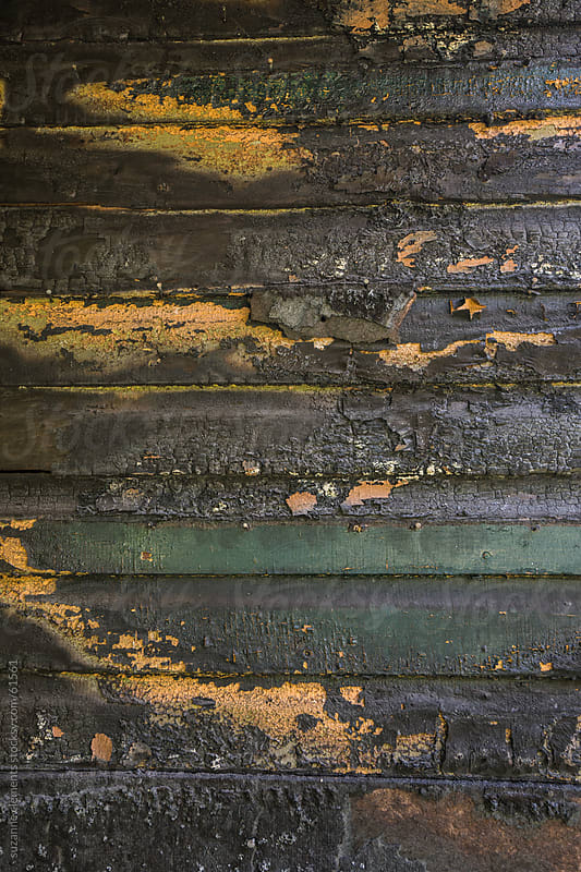 Burned Wooden Slats from an Abandoned Home by suzanne clements for Stocksy United