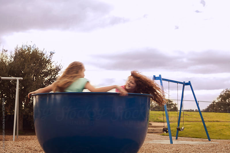Spinning at the playground by skye torossian for Stocksy United