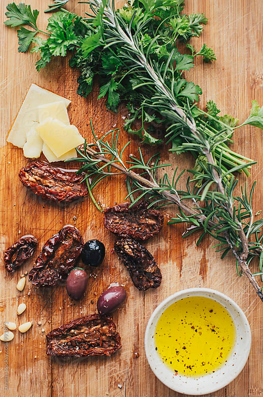 Olives, Cheese and Rosemary by Lumina for Stocksy United