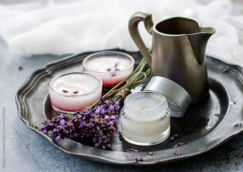 Organic skincare beauty products by Viktorné Lupaneszku for Stocksy United