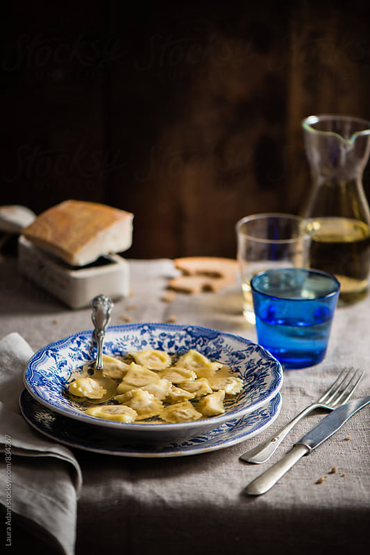 Cappelletti in bouillon by Laura Adani for Stocksy United