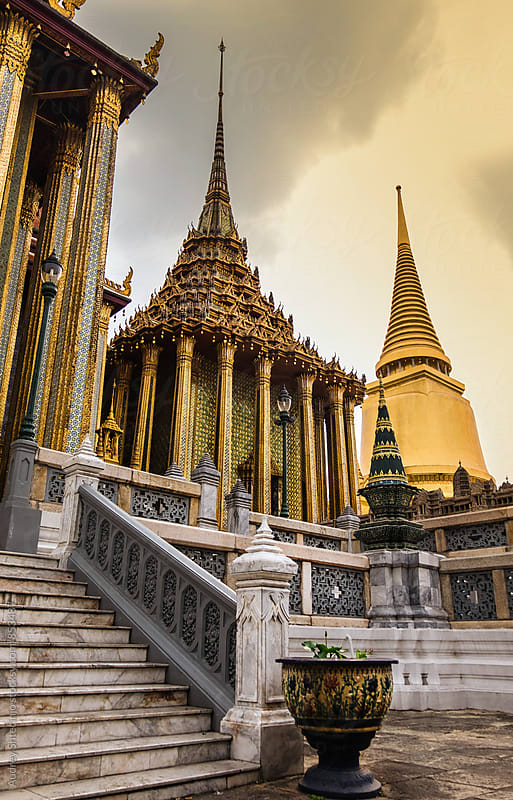 Golden Palace/Golden Temple/Bangkok Thailand by Marko Milanovic for Stocksy United