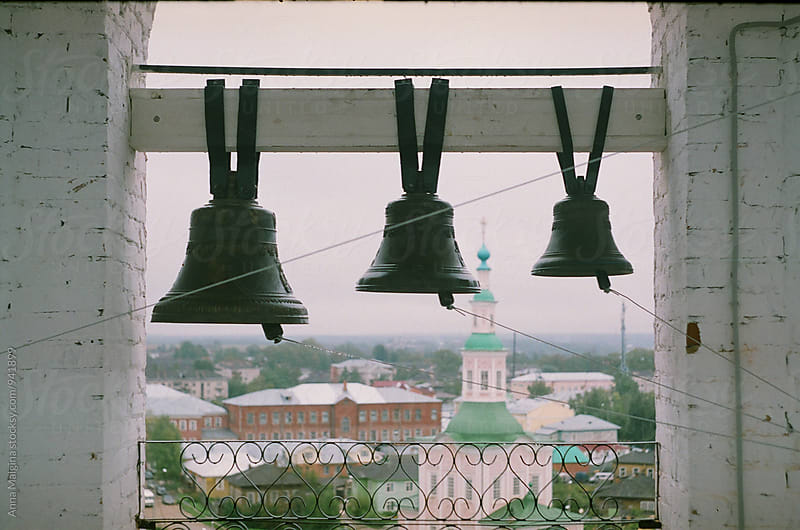 A film photo of church bells by Anna Malgina for Stocksy United