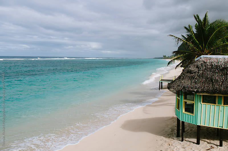 Fale and beach, South Coast, Samoa. by Thomas Pickard for Stocksy United