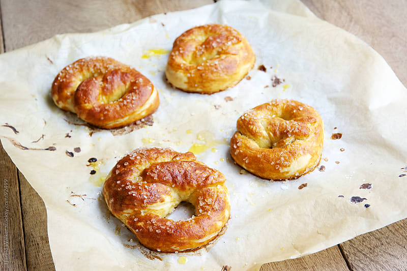 Homemade Soft Pretzels by Harald Walker for Stocksy United