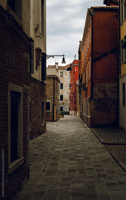 Typically/classic mediterranean street.Italy/Venice/Sestiere Dorsoduro by Marko Milanovic for Stocksy United