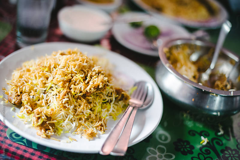 Hyderabad Biryani by Ryan Dearth Photography for Stocksy United