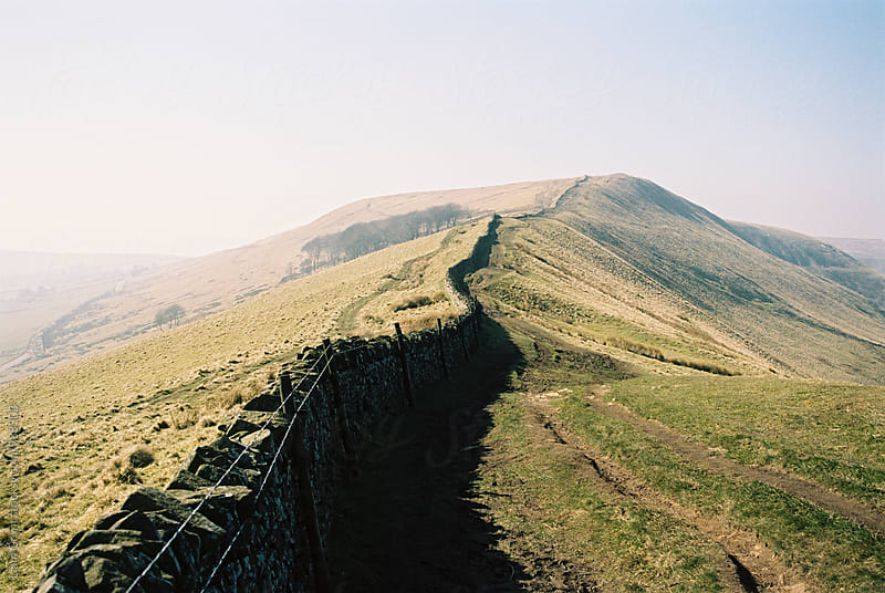 Drystone wall on Rushup Edge, Derbyshire, UK. by Liam Grant for Stocksy United