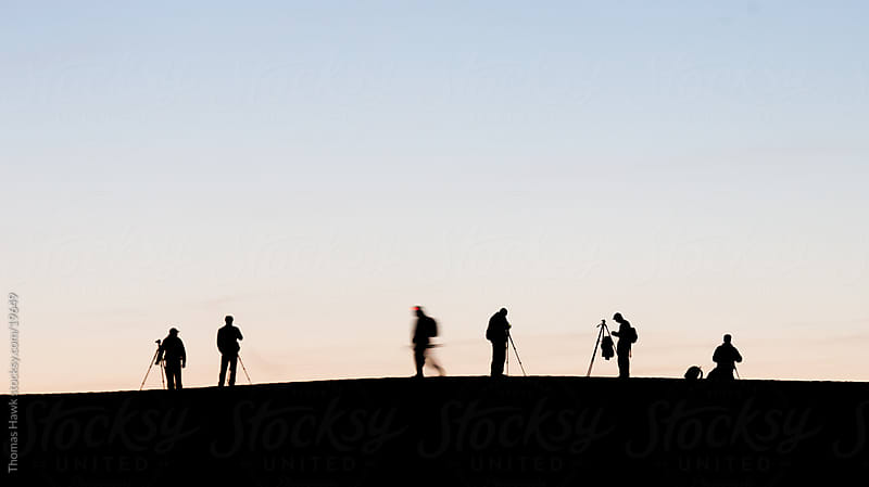 Silhouette photographers at Death Valley sunrise by Thomas Hawk for Stocksy United