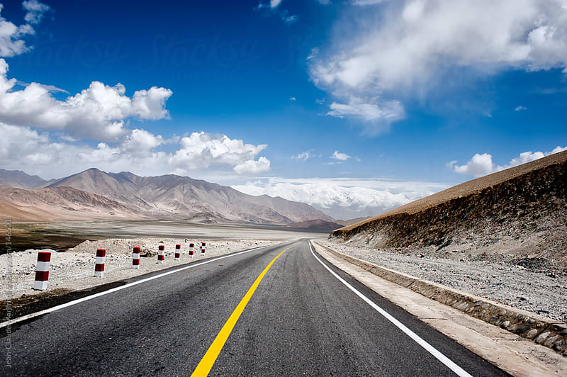 Road to the Karakoram Highway the chinese side by Jean-Claude Manfredi for Stocksy United